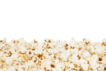 Popcorn, isolated on the white background.
