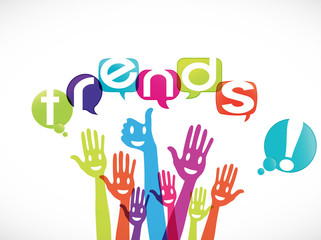 groupe mains souriantes : trends