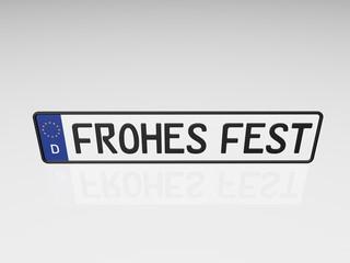 Kennzeichen - Frohes Fest