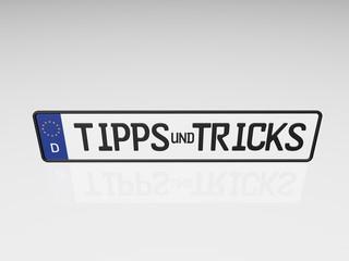 Kennzeichen - Tipps & Tricks