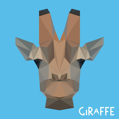 Polygonal giraffe background