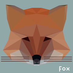 Polygonal fox background