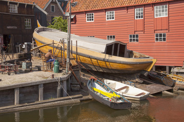 old shipyard in the village of Spakenburg