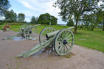Antique cannon in Lappeenranta