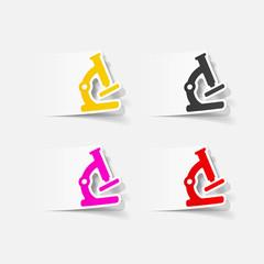 realistic design element: microscope