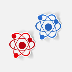 realistic design element: atom