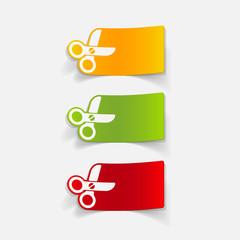 realistic design element: scissors