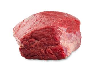 fresh beef slab isolated on white