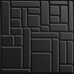 Block of 3D rectangles black background