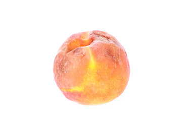 Rotten peach isolated on a white
