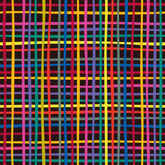 Seamless colorful checkered pattern. Vector