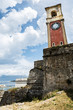 Leinwanddruck Bild - Old tower with clock