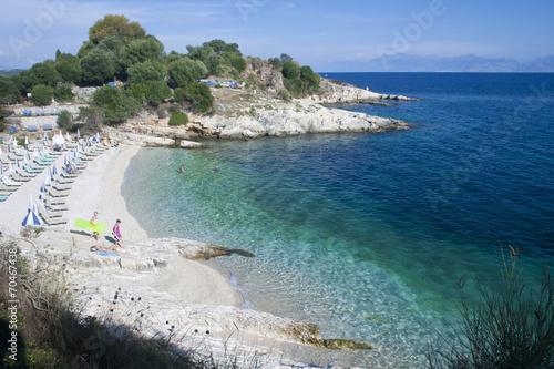 canvas print picture Strand in Korfu