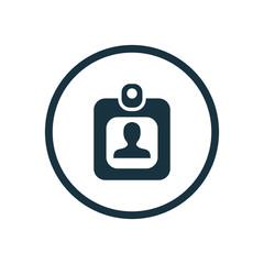 Badge ID circle background icon.