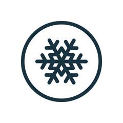 snowflake circle background icon.