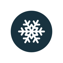 snowflake circle background icon.
