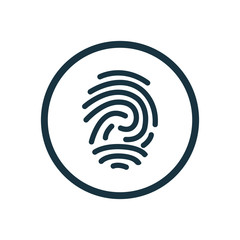 fingerprint circle background icon.