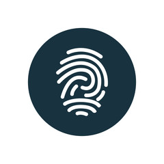 fingerprint circle background icon.