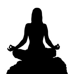 Yoga lotus position silhouette
