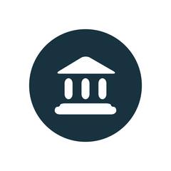 tribunal circle background icon.