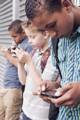 Smart phone generation. Cell phone addiction.