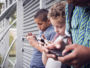 Smart phone generation. Cell phone addiction.