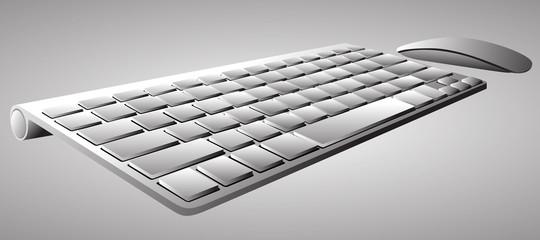 Computer keyboard. Vector Illustration
