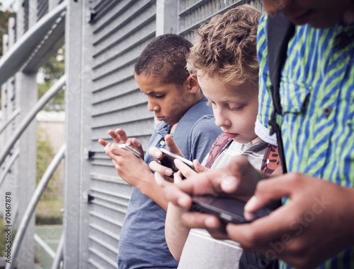 Smart phone generation. Cell phone addiction. - 70467878