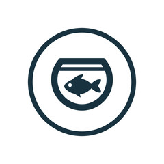 fish, aquarium circle background icon.
