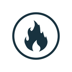 fire circle background icon.