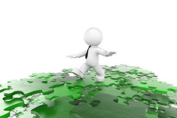 Puzzleweg grün