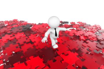 Puzzlemann rot