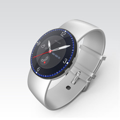 Smart watch with analog mechanical dial