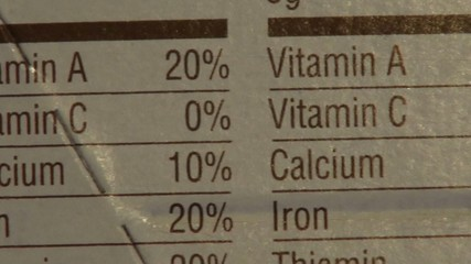 Ingredients, Nutritional Information