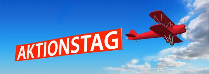 Doppeldecker & Werbebanner AKTIONSTAG