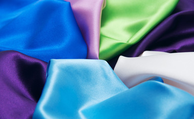 multicolored satin fabric
