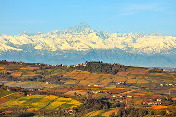 Hills and mountains. Piedmont, Italy.