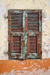 Very weathered old shutter