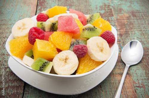 Fotobehang Keuken Fruit salad