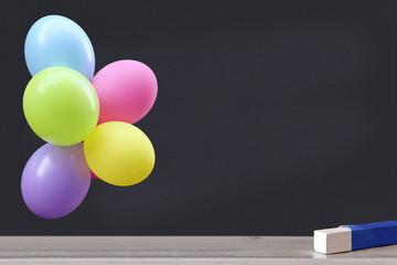 luftballons an schultafel