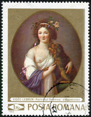 Portrait of Doamnei d Aguesseau, by Madame Vigee-Lebrun