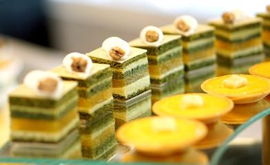 colourful dessert buffet