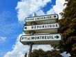 canvas print picture - Tourism in paris