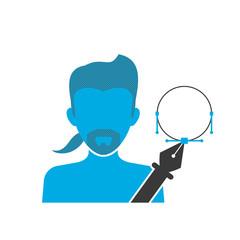 Illustrator blue icon
