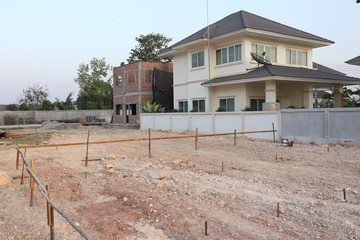 empty land used for construction building and sale