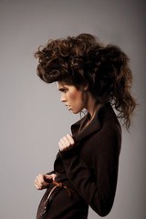 Charisma. Stylish Woman with Unusual Shaggy Hairstyle