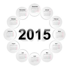 Kalender 2015- Rund