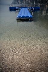 floating platform island for swimmers