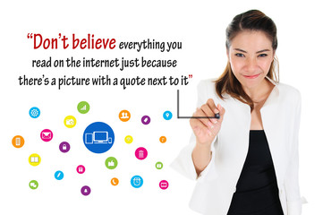 Logic of social media, online business concept