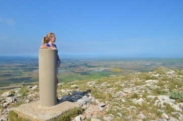 on top of montgri massif